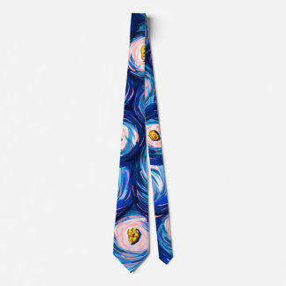 Bold Bright Colourful Abstract Watercolor Necktie