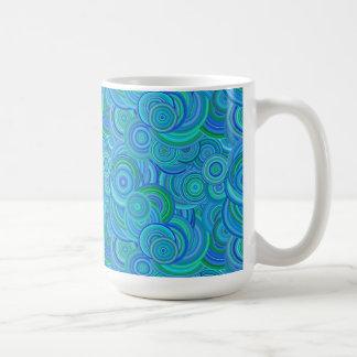 Bold Bright Digital Art Abstract Basic White Mug