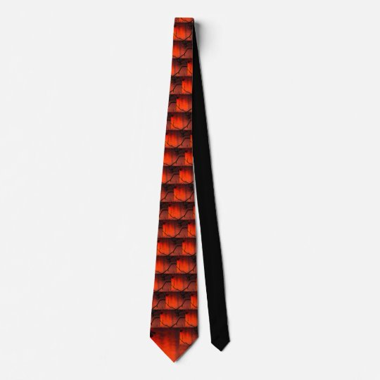 Bold, bright, eye catching orange tie