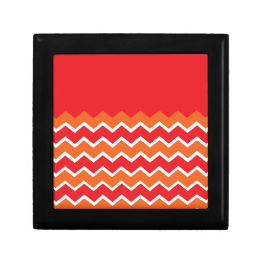Bold Bright Orange Red Chevron Zigzag Pattern Gift Boxes