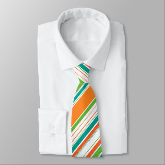 Bold Bright Stripes and Dots Tie