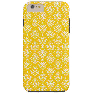 BOLD BRIGHT YELLOW VINTAGE DAMASK PATTERN 1 TOUGH iPhone 6 PLUS CASE