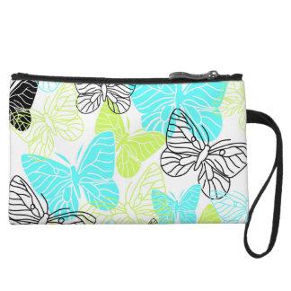 Bold Butterflies Wristlet Clutch