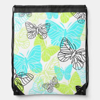 Bold Butterflies Drawstring Backpack