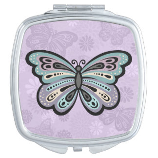 Bold Butterfly compact mirror