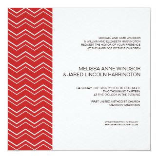 Bold Chevron Stripe Red  Modern Affordable Card