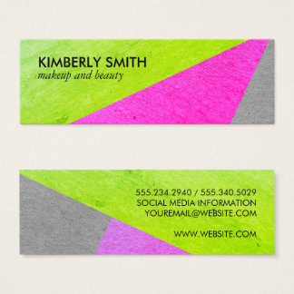 Bold Chic Speckled Color Blocks Mini Business Card