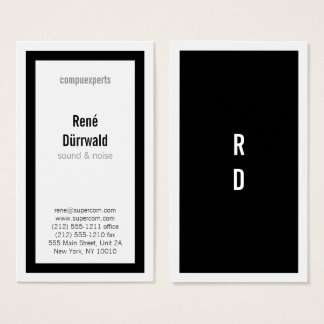 Bold Classics in Black and White Business Card