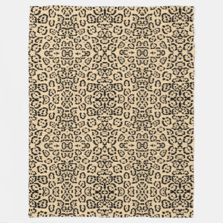 Bold Coffee Leopard Animal Cat Print Brown Fleece Blanket