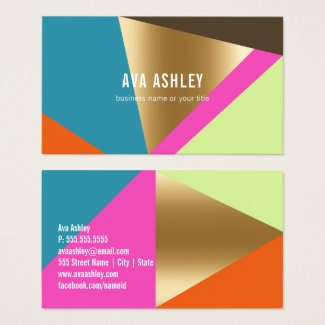 BOLD COLOR GEOMETRIC BLOCKS | BUSINESS CARDS