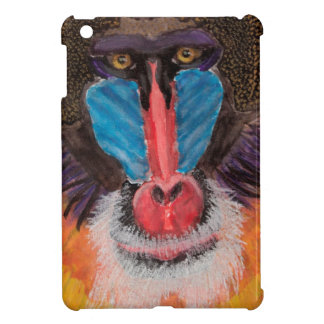 Bold Colored Baboon Face in Contemporary Style iPad Mini Case