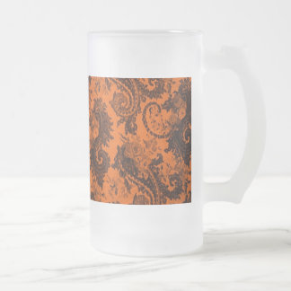 Bold Colored Paisley - Orange and Black Mug