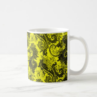 Bold Colored Paisley - Yellow and Black Coffee Mug