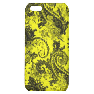Bold Colored Paisley - Yellow and Black Case For iPhone 5C