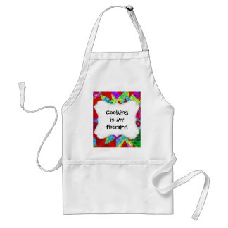 Bold Colorful Abstract Collage with Dragonflies Adult Apron
