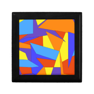 Bold Colorful Abstract Tile Box Small Square Gift Box