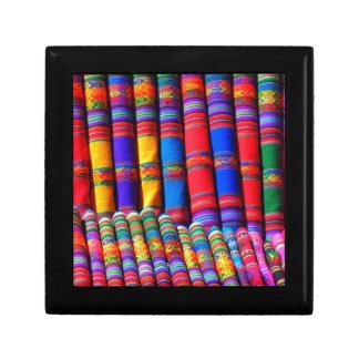 Bold Colorful Fabrics Trinket Box