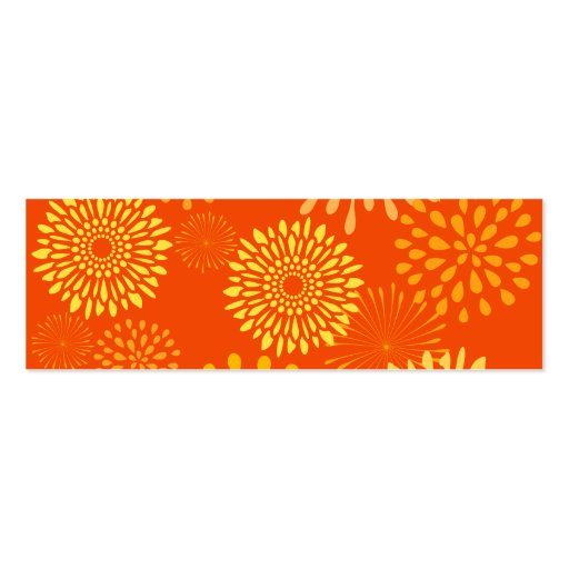 Bold Colorful Orange Yellow Flower Line Art Business Card