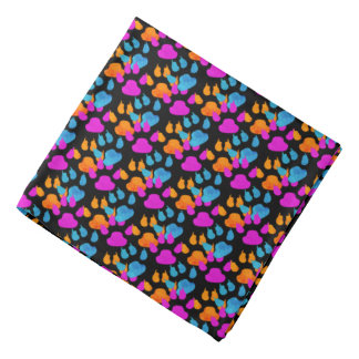Bold Colorful Paws and Claws Puppy Bandana