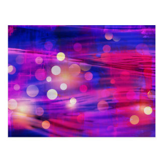 Bold Colorful Purple Blue Pink Abstract Design Postcards