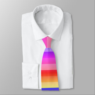bold colorful summer stripes tie