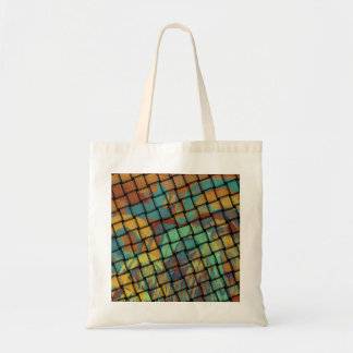Bold Colors on Weave Canvas Bag