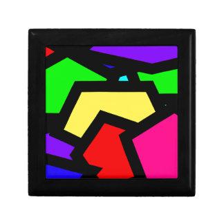 Bold colourful abstract keepsake boxes