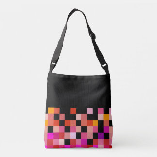Bold colours, fine graphic design crossbody bag