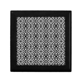Bold & Cool Black and White Pattern Small Square Gift Box