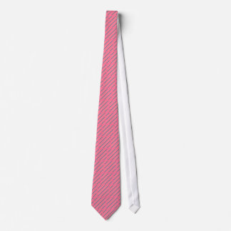 Bold Coral Teal Striped Block Novelty Fashion Tie