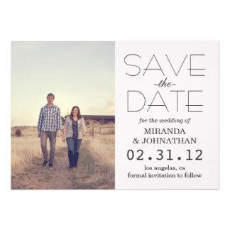 Bold Cream Design Photo Save The Date Invites