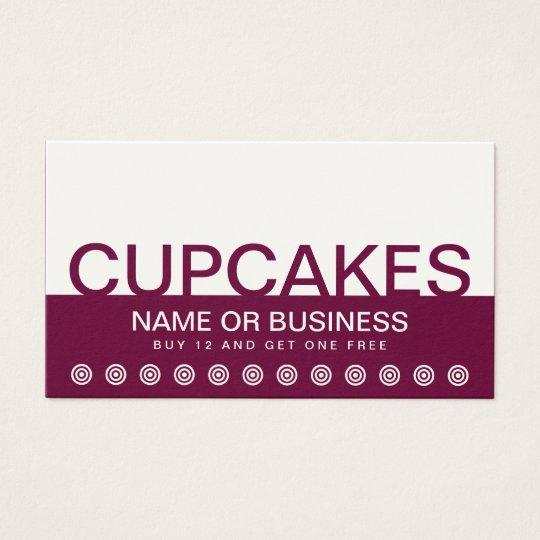 bold CUPCAKES customer loyalty card