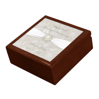 Bold Damask 30th Wedding Anniversary Gift Box