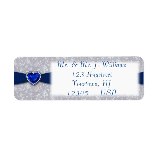 Bold Damask 45th Anniversary Return Address Labels