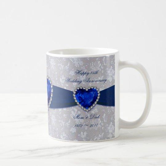 Bold Damask 45th Wedding Anniversary Coffee Mug