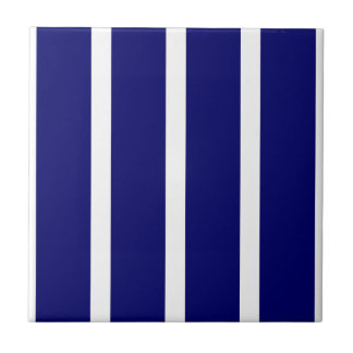 Bold Dark Blue Stripes Tile