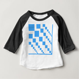 Bold descending kite tail block pattern in blue an baby T-Shirt