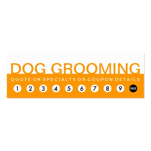bold DOG GROOMING customer loyalty Business Card Templates