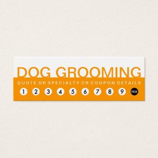 bold DOG GROOMING customer loyalty Mini Business Card