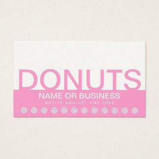 bold DONUTS customer loyalty card