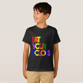 "Bold ""Eat Your Colors"" -Kids T-Shirt"