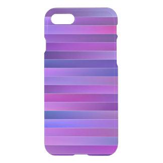 Bold Elegant Purple Stripes Clear iPhone 7 case
