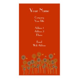 Bold elegant retro flower garden business cards