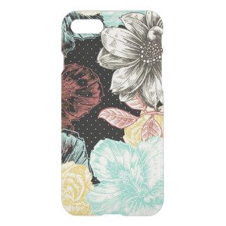 Bold Engraved Black Floral iPhone 7 Case