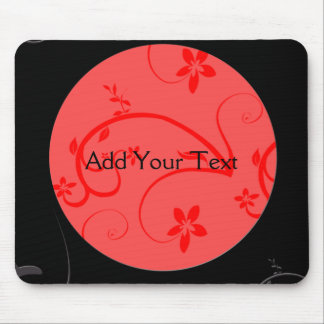 Bold Expressions in Red and Black Mouse Pad