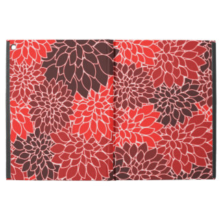 Bold Expressions Red Dahlia Flower Pattern