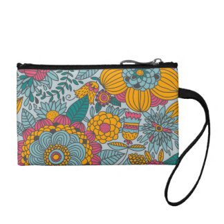 Bold Floral and Vines Change Purses