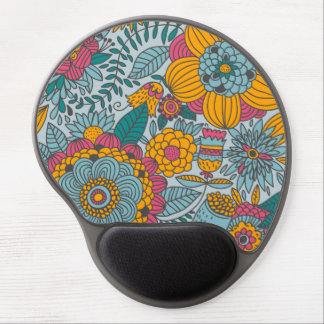 Bold Floral and Vines Gel Mousepad