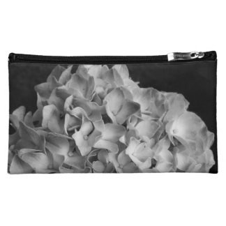 Bold Floral Cosmetic Bag - Hydrangea Back & White