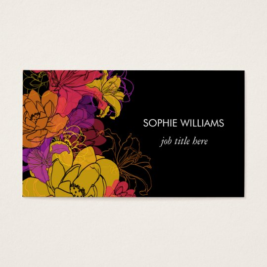 Bold Flowers Professional Business Card